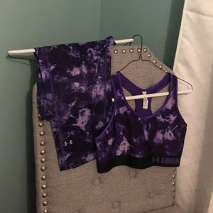 *New* Under Armour Purple Sports Bra & Capri